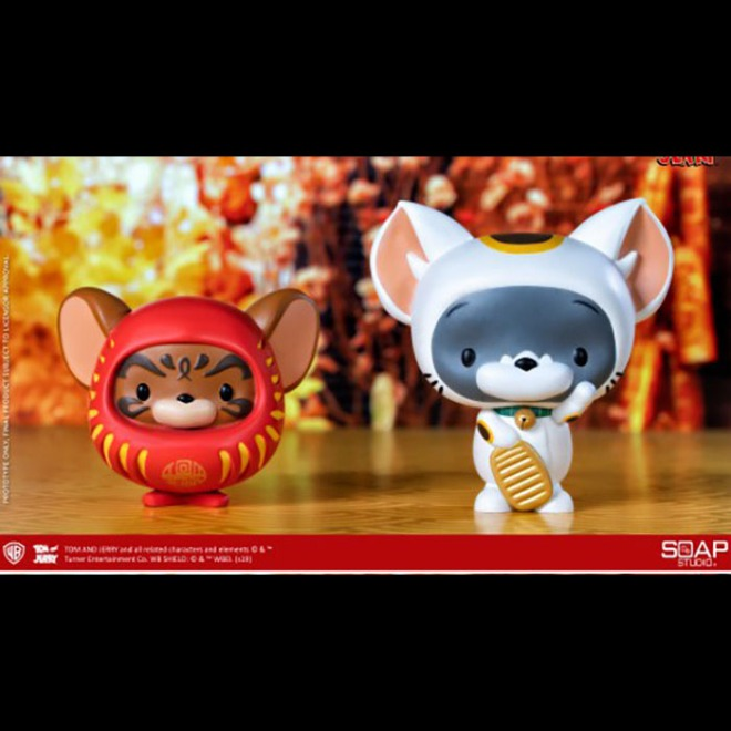 [20년 1분기] Soap Studio - Chibi Tom and Jerry Vinyl Figure (Maneki-Neko and Daruma Ver.)(CA03C) ◈뽁뽁이 안전포장 발송◈