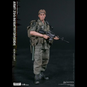 [20년 2분기] Damtoys - 1/12 Pocket Elite Series - ARMY 25th Infantry Division Private SERGEANT (PES005) ◈쇼트없이 안전하게 입고◈뽁뽁이 안전포장 발송