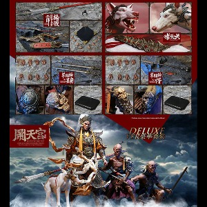 [20년 4분기]Inflames X Newsoul - 1/6 Havoc in Heaven Serial - Erlang God, Yang Jian & The Deified Dog & Alternative God-Black Horn,Young Bone Deluxe Set (IFT-049)◈뽁뽁이 안전포장 발송◈